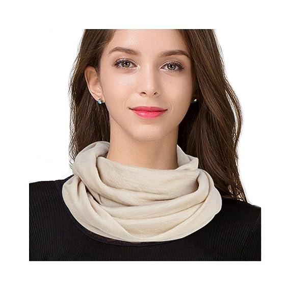 Femme Fille 100% Laine Double-Cercle Écharpe infinie écharpe tube tubulaire  Foulard Écharpe de da835f4e90a