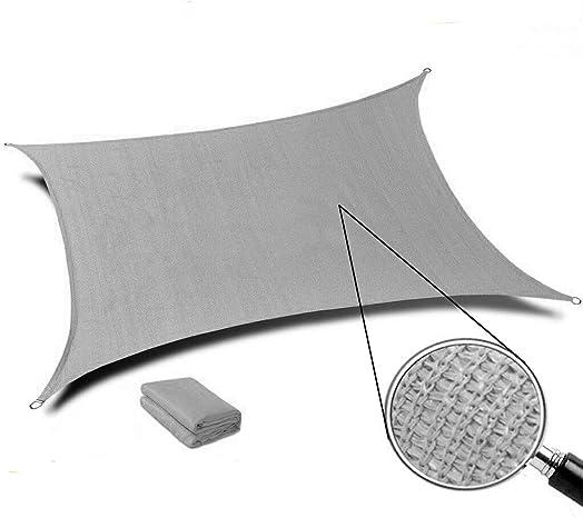 INFLATION 16' x 20' Grey Rectangle Sun Shade Sail Canopy