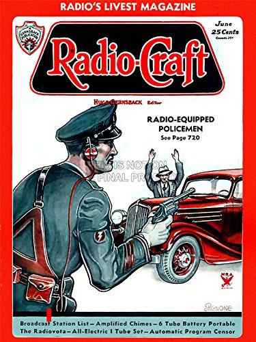 Wee Blue Coo Magazine Cover Radio Craft 1936 Radio Cops! Art Canvas Print