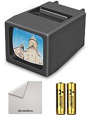 Visualizzatore diapositive illuminato a 35 mm illuminato a LED(2 batterie AA incluse)