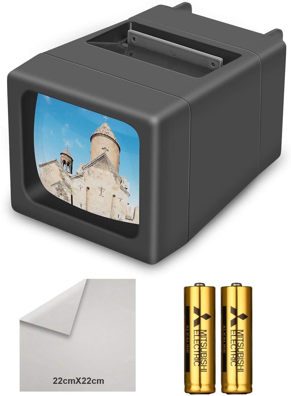 Visor de Diapositivas Iluminado con luz LED de 35 mm (baterías 2AA Incluidas)