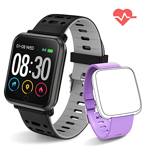 Fitness Tracker HR Activity Tracker with Heart Rate Monitor Waterproof SmartWatch with Step Counter Fit Watch Sleep Monitor Step Counter for Men and ...