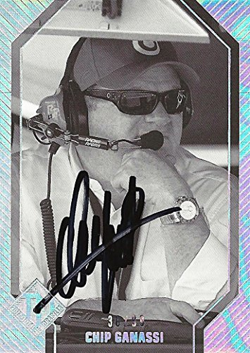 AUTOGRAPHED Chip Ganassi 2012 Press Pass Total Memorabilia HOLOFOIL (Sabates-Ganassi Racing Team) Car Owner Signed Collectible NASCAR Holographic Insert Trading Card with COA (#30/99)