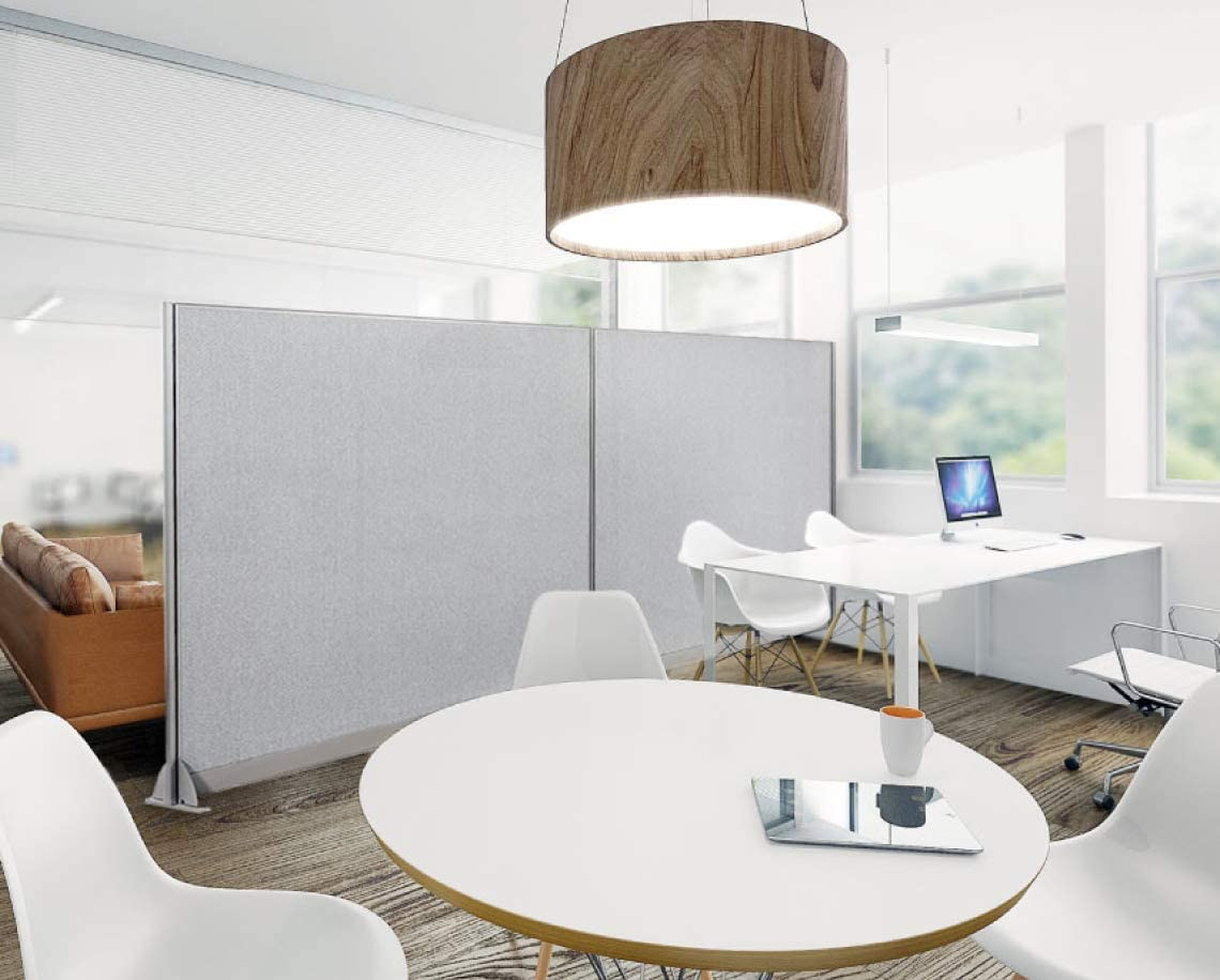 GOF Wall Mounted Office Partition, Large Fabric Room Divider Panel, 72
