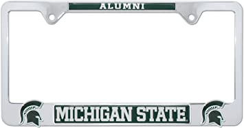 Elektroplate Michigan State Spartans Black License Plate Frame