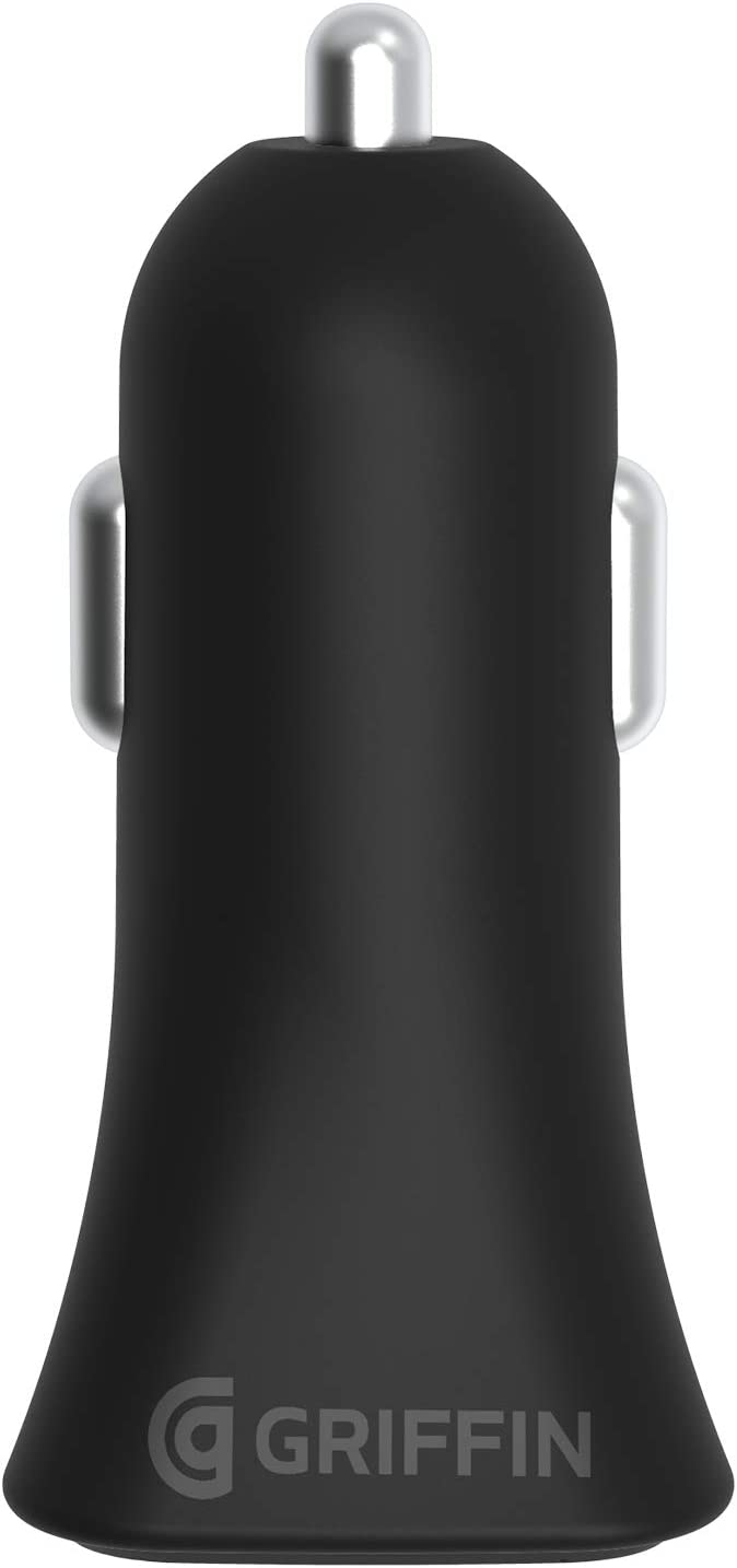 Black Griffin PowerJolt USB-C PD 18W Car Charger with USB-C to Lightning Cable