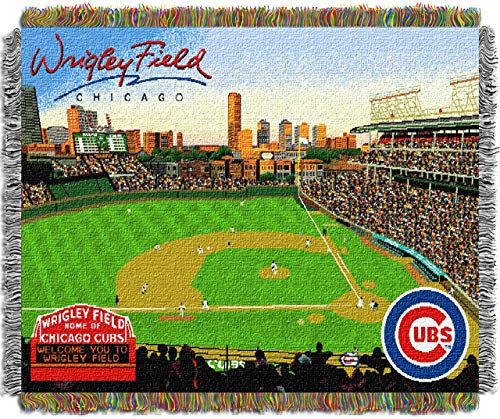 The Northwest Co MLB Stadium Woven Tapestry Throw Chicago Cubs