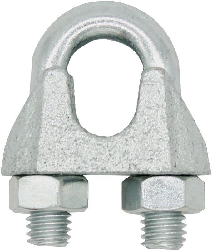 Morsetto per fune metallica in acciaio inox V4A AISI 316 Heavytool/® 8 mm