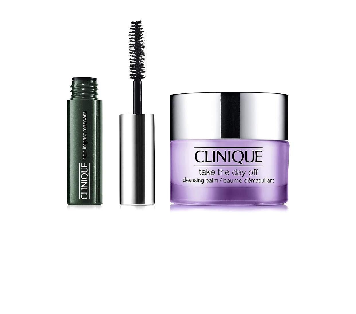 2fa0e04bd3a Amazon.com : Clinìque Take The Day Off Cleansing Balm 0.5 fl oz & Travel  Size High Impact Mascara 01 Black ~ Trial Size Duo : Beauty