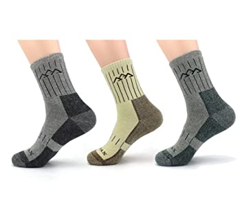 955cfc3aa0fd9 Waymoda 3 Pairs Unisex Spring Warm Hiking Socks, Thicken and Breathable,  Coolmax and Cotton material, ...