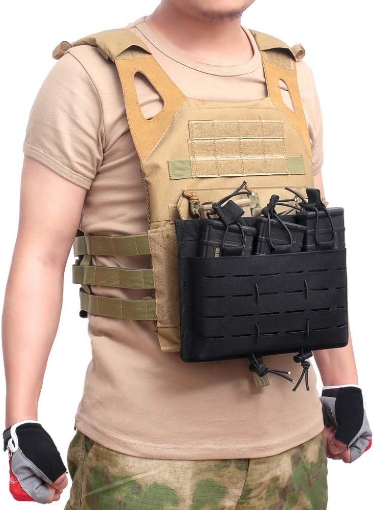 Bolso de la Revista Tactical Molle Ohhome Open Top mag Holder Triple Airsoft mag Pouch Bolsa de Caza Funda para Disparar Pistola Bolsa de Paintball para Exteriores Molle Pouch