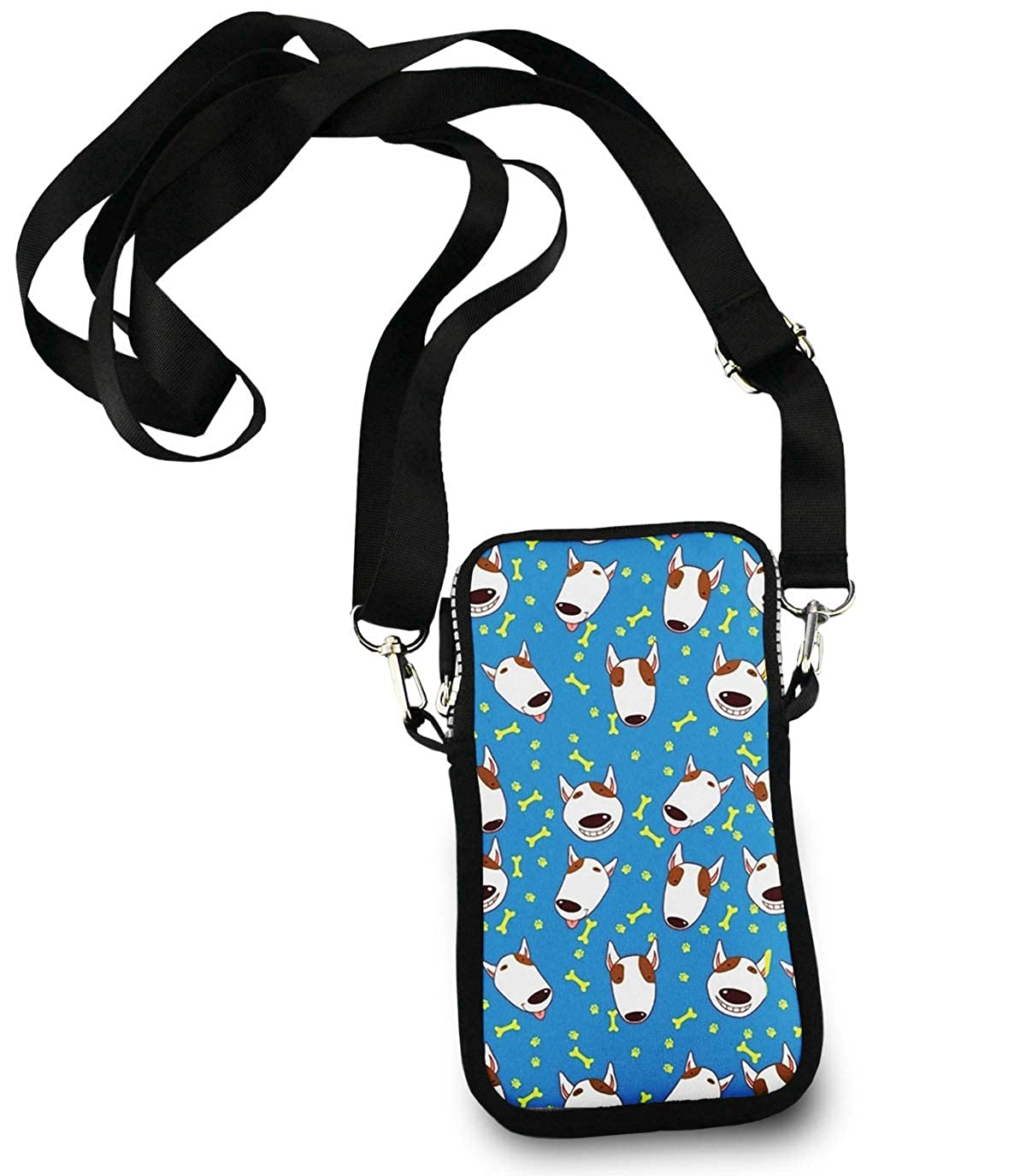 DiaNoche Designs Tote Shoulder Bags by Marley Ungaro Bull Terrier Dog Watermelon