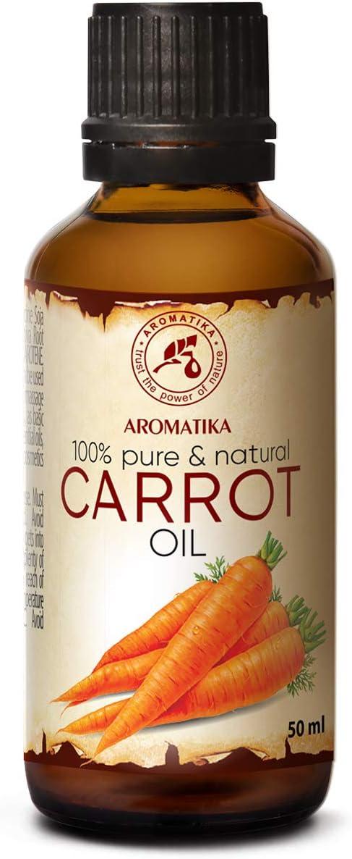 Aceite de Zanahoria 50ml - 100% Puro y Natural - Mejor Aceite de Cuidado para La Piel - Cabello - Cuerpo - Cuidado Personal - Aceite de Caroteno