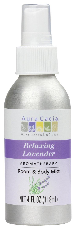 Aura Cacia Room and Body Mist, Relaxing Lavender, 4 Fluid Ounce