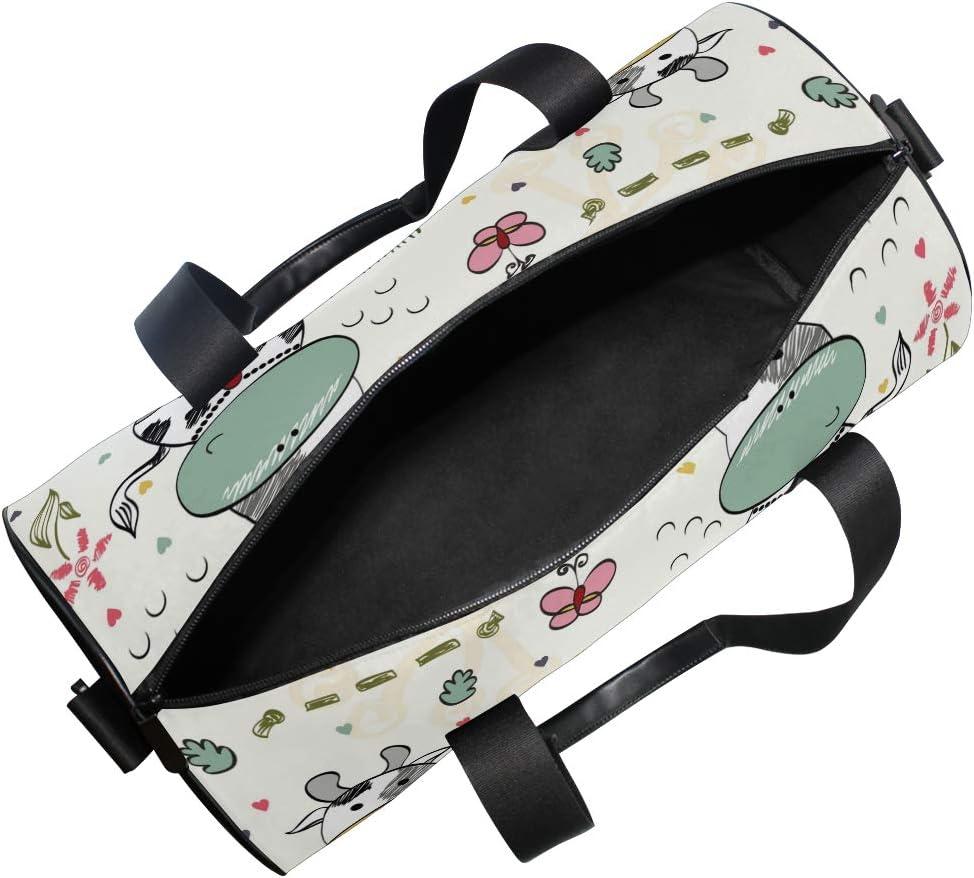 MALPLENA Cute Baby Cow Drum gym duffel bag women Travel Bag