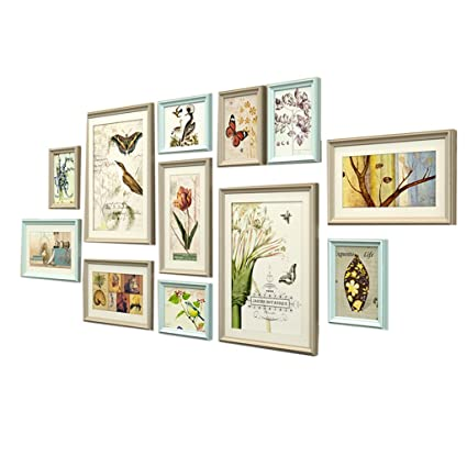 Amazon.com - Picture Frames Solid wood Picture Frame Wall Set photo ...