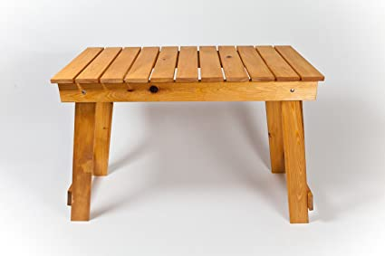 Cypress Table Hand Made In USA. Great For Grilling And Tailgating.