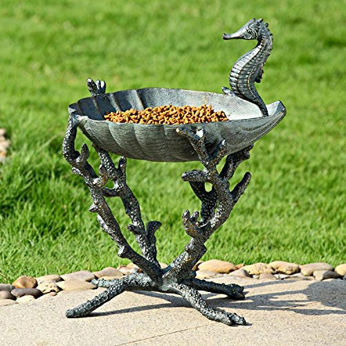 Seahorse Birdbath/Birdfeeder by SPI Home
