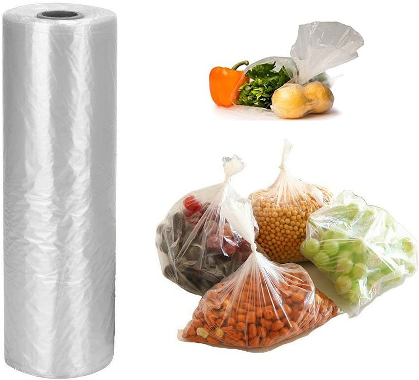 12 x 20 inches Plastic Produce Bag,350 Bags/Roll,for Fruits, Vegetable, Bread, Food Storage.