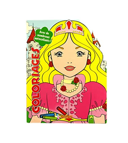 Creative Doodle Coloring Book Print Books Pages Crown Girl