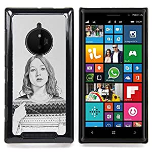 Stuss Case / Funda Carcasa protectora - Sweater Pencil Drawing Portrait - Nokia Lumia 830