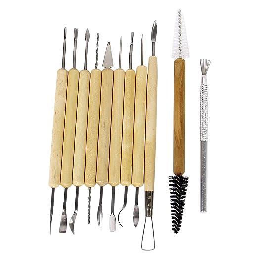 51 opinioni per Best Mall Co. Ltd- Set da 11 pezzi in legno e metallo per pittura, scultura e