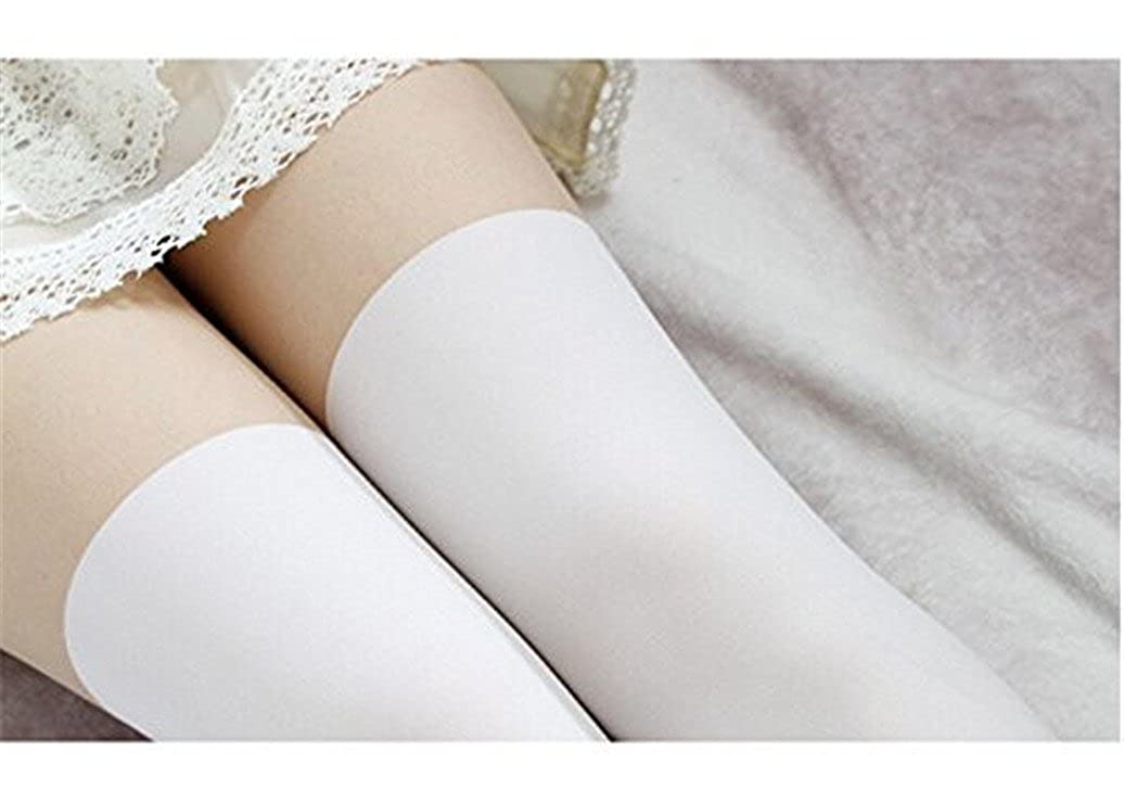 fa62f7ded1e Amazon.com  Shuohu Women s Opaque Over Knee Thigh High Stockings Elastic  Solid Socks - Black  Clothing