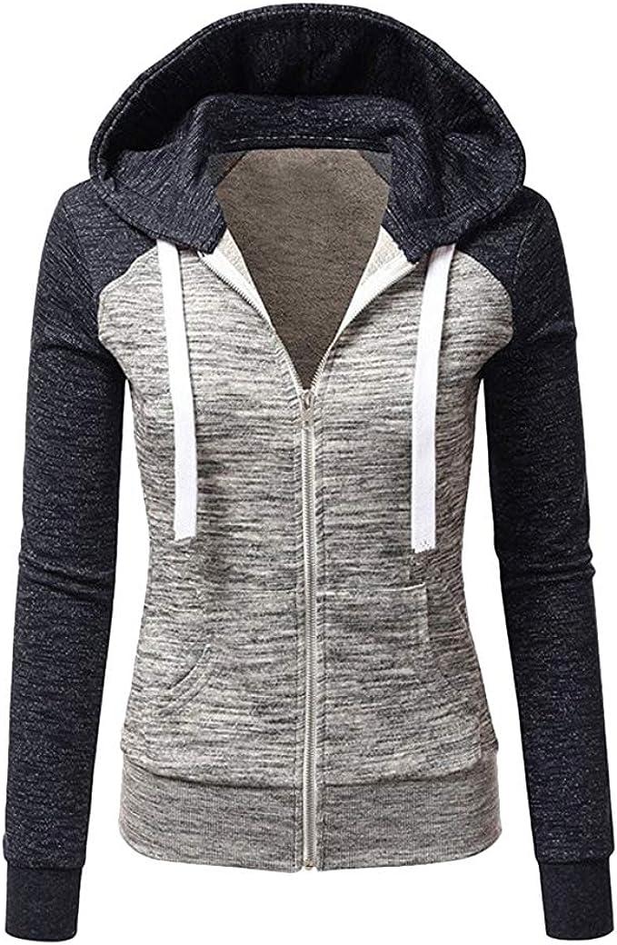 Damen Kapuzenpullover Sweatshirt Jacke Pullover Hoodie