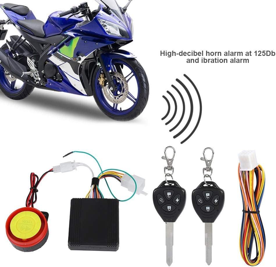 12V 125 DB Automatical Anti-theft Bicycle Burglar Alarm Motorbike Security Alarm System