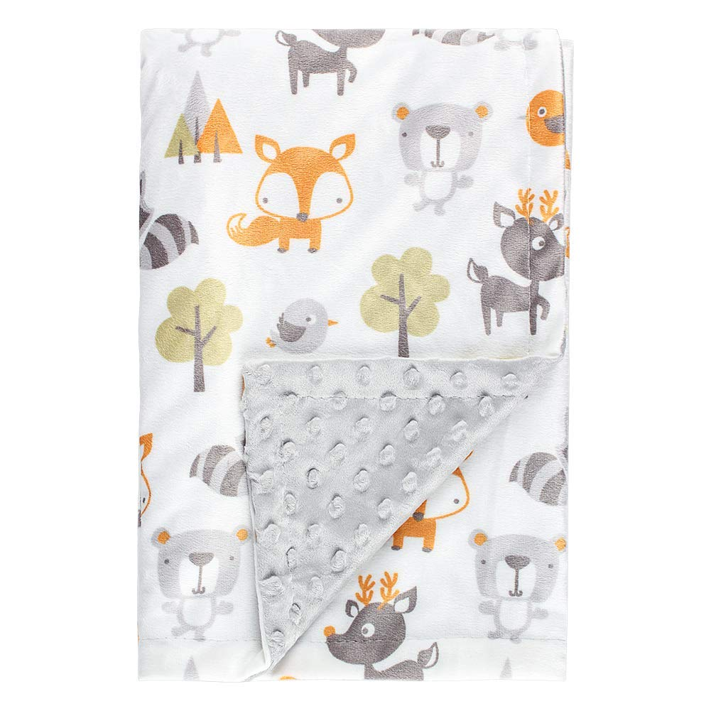 Fox Baby Blanket Boys Soft Minky Baby Blanket Fleece Baby Girl Security Fox Blanket Plush Dot Toddler Baby Newborn Blanket Woodland for Nursery Stroller Crib Receiving Blanket Infant Unisex by Kleitung