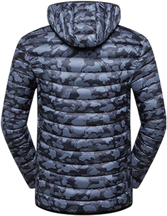 eaf675cb26822 Mens Camouflage Packable Down Puffer Jacket Winter Lightweight Zipper Coat  Plus Size