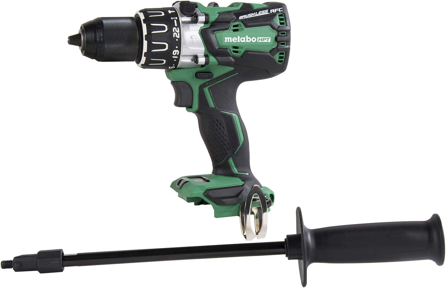 Metabo HPT 18V Cordless Brushless Hammer Drill, Tool Only - No Battery, Compatible with Hitachi/Metabo HPT 18V Lithium Ion Slide-Type Batteries, Lifetime Tool Warranty (DV18DBL2Q4)