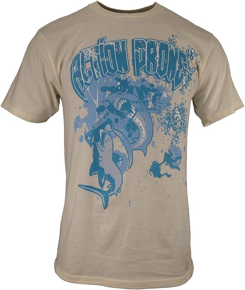 Action Prone Hammerhead vs. Great White Shark Diving T-Shirt