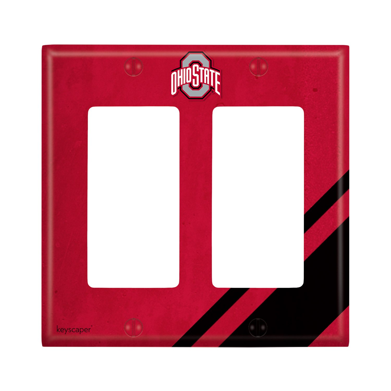 Ohio State University Double Rocker Light Switch Cover NCAA