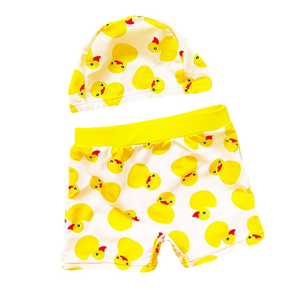 Baby Toddler Boy Swim Trunk Duck Swimming Shorts with Swim Hat LZ-TYY-75
