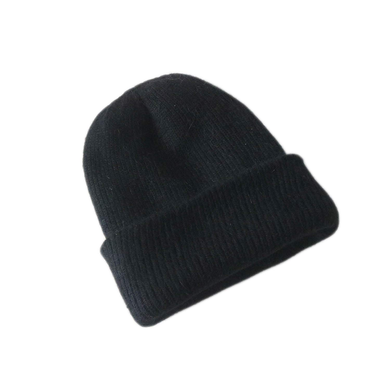 6f70f421b Simple Rabbit Fur Beanie Hat for Women Winter Skullies Warm Gravity ...