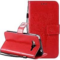 Samsung Galaxy Grand Prime SM pq-g530 funda piel Flip Wallet Cover Case, nnopbeclik Folio PU Leather Lujo multicolor…
