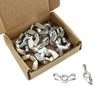 """Pro Bamboo Kitchen 20pcs 1/4""""-28 Galvanized Wing Nut Carbon Steel Bolt Fasteners Hardware Accessories"""