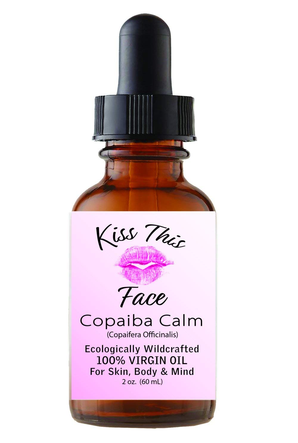 COPAIBA CALM, 100% Virgin Copaiba Oil For Face, Body and Relaxation. Anti-Inflammatory, Anti-Anxiety, Undiluted, Wildcrafted Oil From Brazil. 2 oz Bottle