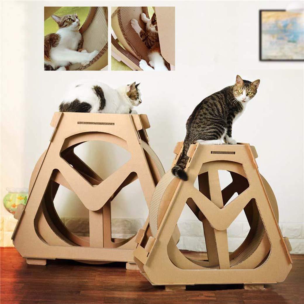 Rueda de Agua Rascando Almohadillas para Gatos, Gato Escalada Marco Superior de Cartón y Construcción con Catnip (tamaño : Metro): Amazon.es: Hogar