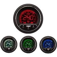flently 12V//24V Car LCD Water Temperature Meter 2 in 1 Thermometer Voltmeter 17mm Sensor