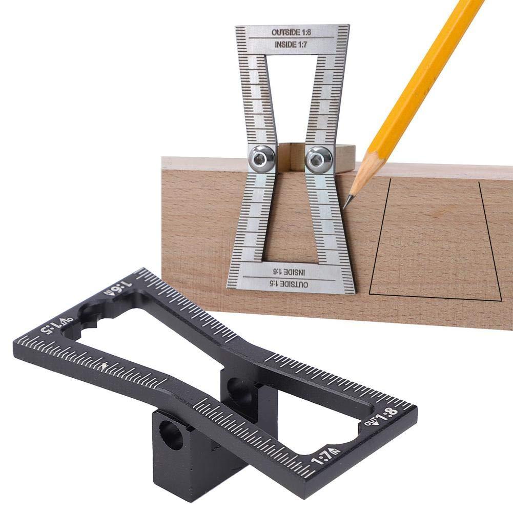 Carpenter Dovetail Ruler Aluminum Alloy Dovetail Tenon Scriber Gauge