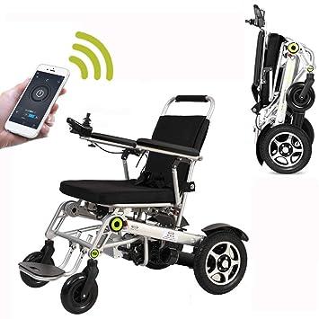 KuiGu Silla de Ruedas eléctrica Plegable Automática Anciano Deshabilitado Ayuda Coche Ancianos Compacto Inteligente Portátil Ligero Scooter ...