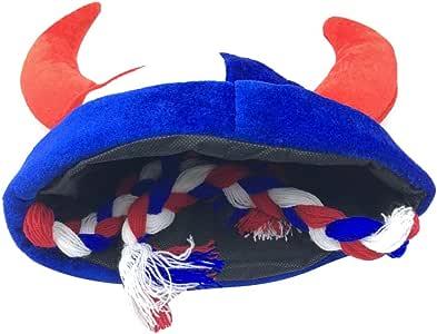 Amosfun Sombrero Vikingo con Trenzas Y Cuernos Divertido Fiesta de ...