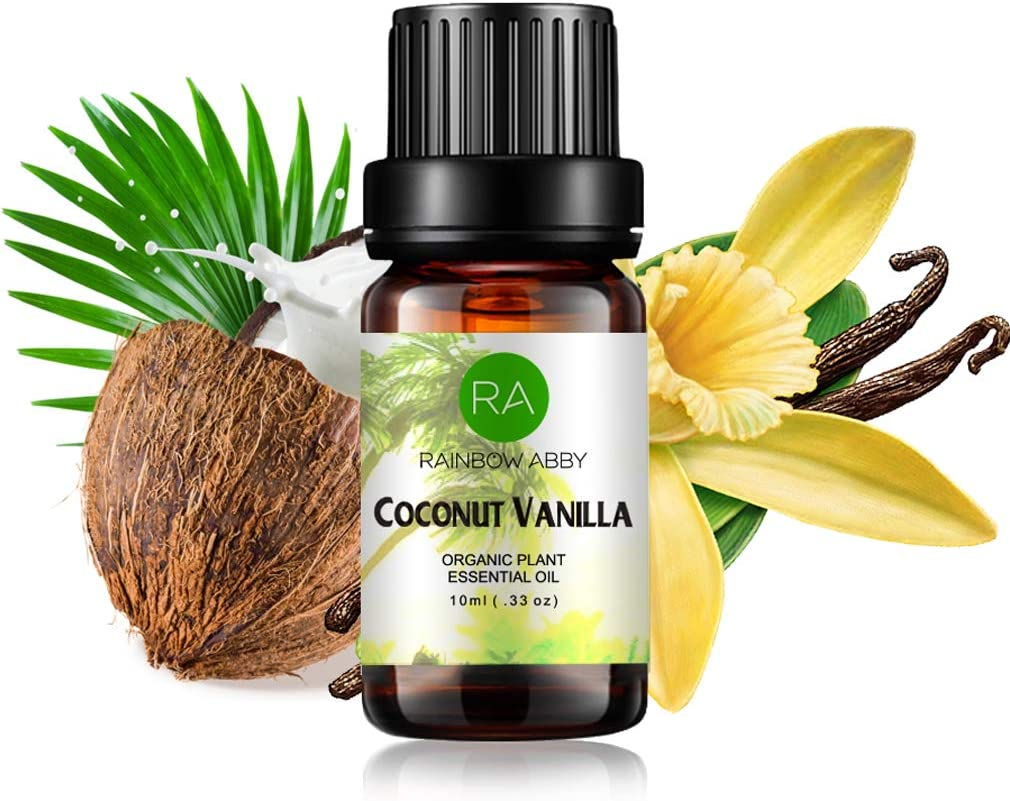 Coconut Vanilla Essential Oil - 100% Pure, Best Organic Therapeutic Grade Blend Essential Oil - 10 ml