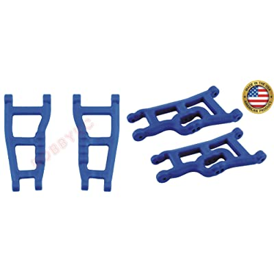 RPM 80245 Front & 80595 Rear Blue A-Arms 1/10 Traxxas Slash 2wd VXL XL-5 Raptor: Toys & Games