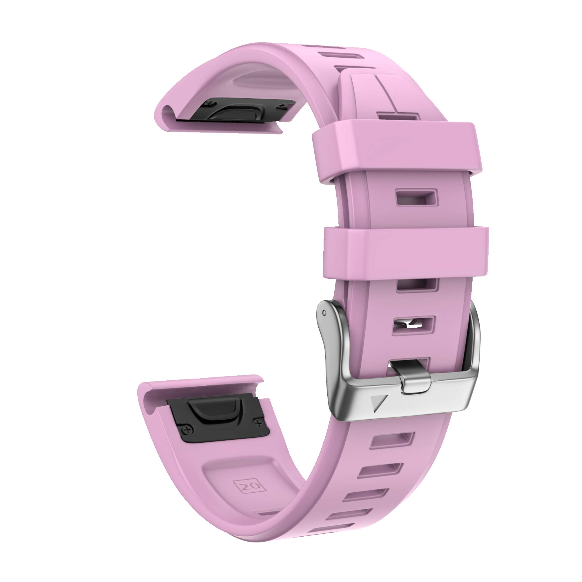 ANCOOL Compatible with Fenix 5S Plus Bands 20mm Width Easy Fit Soft Silicone Watch Bands Replacement for Fenix 6S/Fenix 6S Pro/Fenix 5S Smartwatches, Pink by ANCOOL