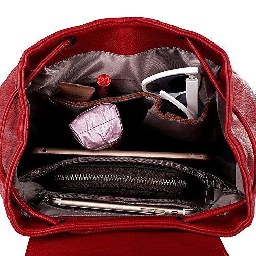 Style Zipper Bandoulière Voyage à Simple ZHXUANXUAN Red Dos College à Sac fonction Dames Sac Mode Casual Multi XwIzqpR