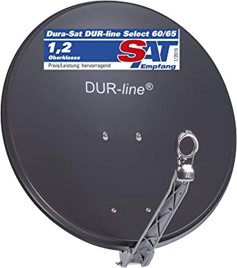 Dur Line Select 85cm X 90cm Alu Satelliten Schüssel Anthrazit Test Sehr Gut Aluminium Sat Spiegel Elektronik