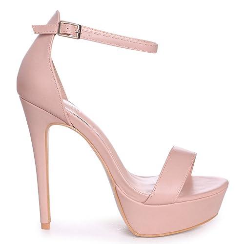72ee361997 Linzi Alesha - Nude Nappa Platform Stiletto Heel: Amazon.co.uk: Shoes & Bags